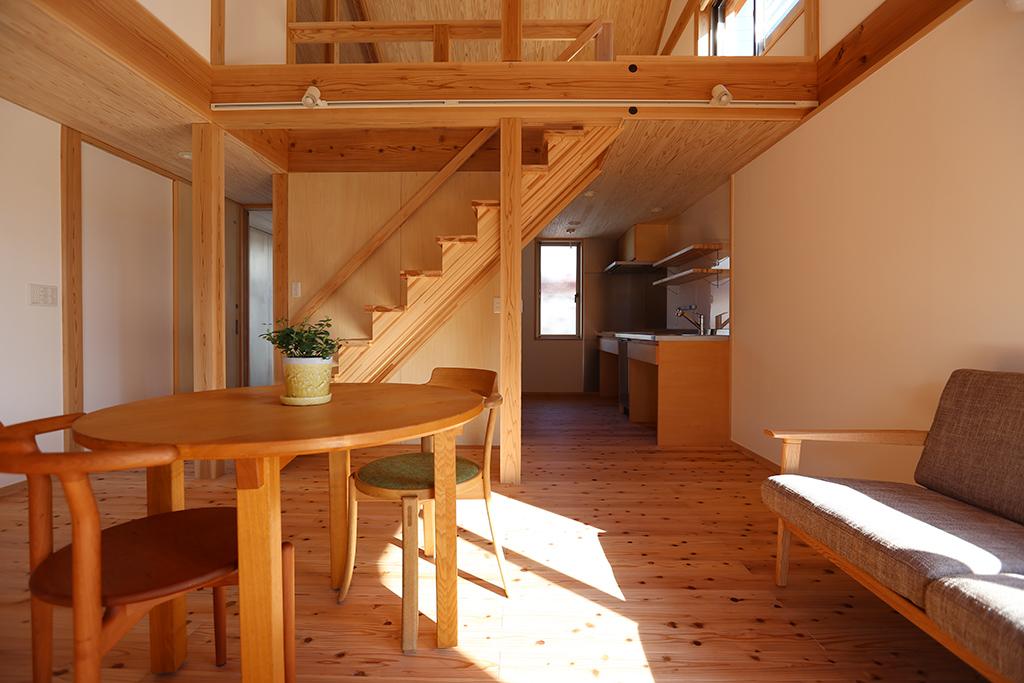 神崎郡の木の家 ひとつながりのLDK