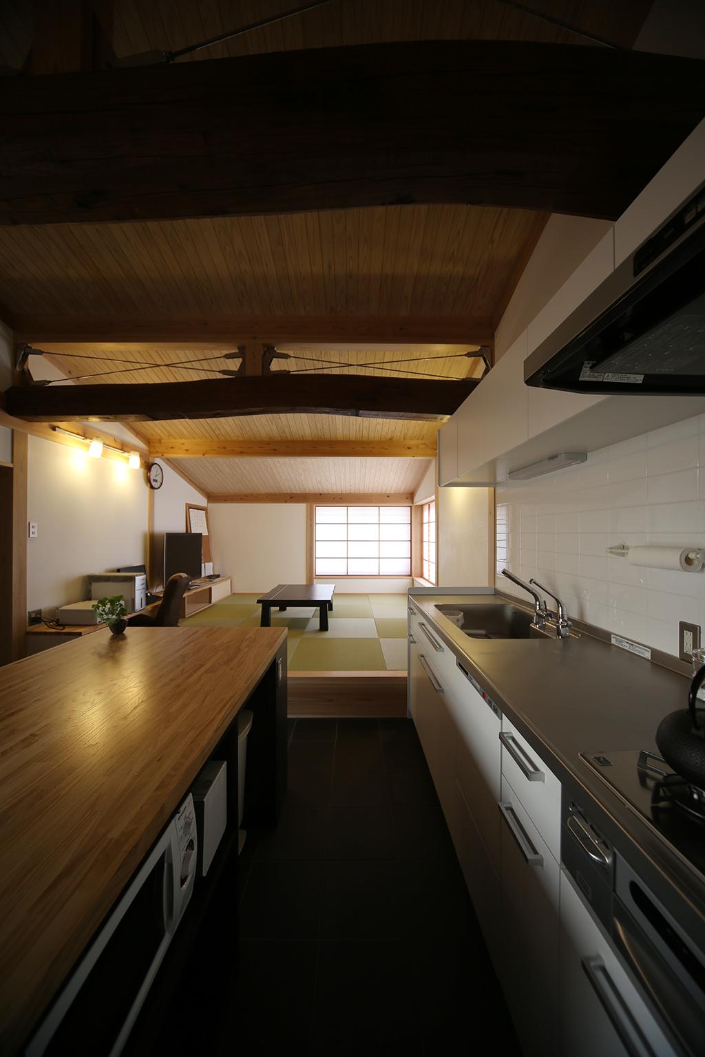 神戸市の木の家 土間キッチン