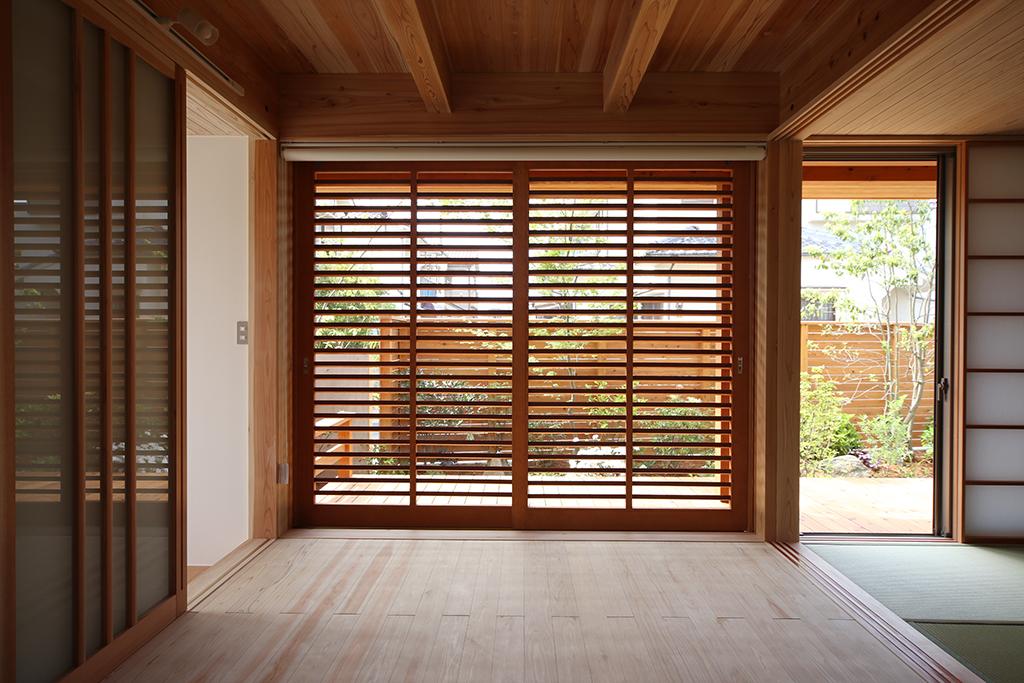 加古川市の木の家 大開口のあるリビング