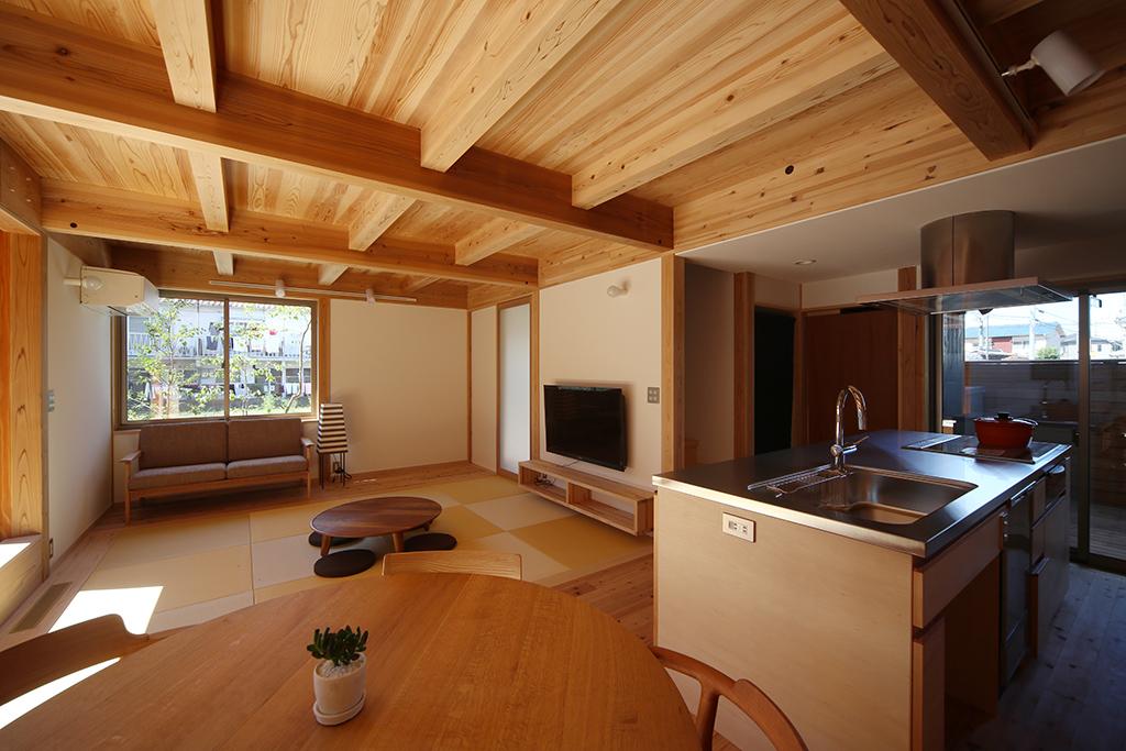 姫路市の木の家 ひとつながりのLDK