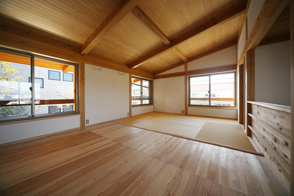 姫路市の木の家 可変性のあるフリールーム