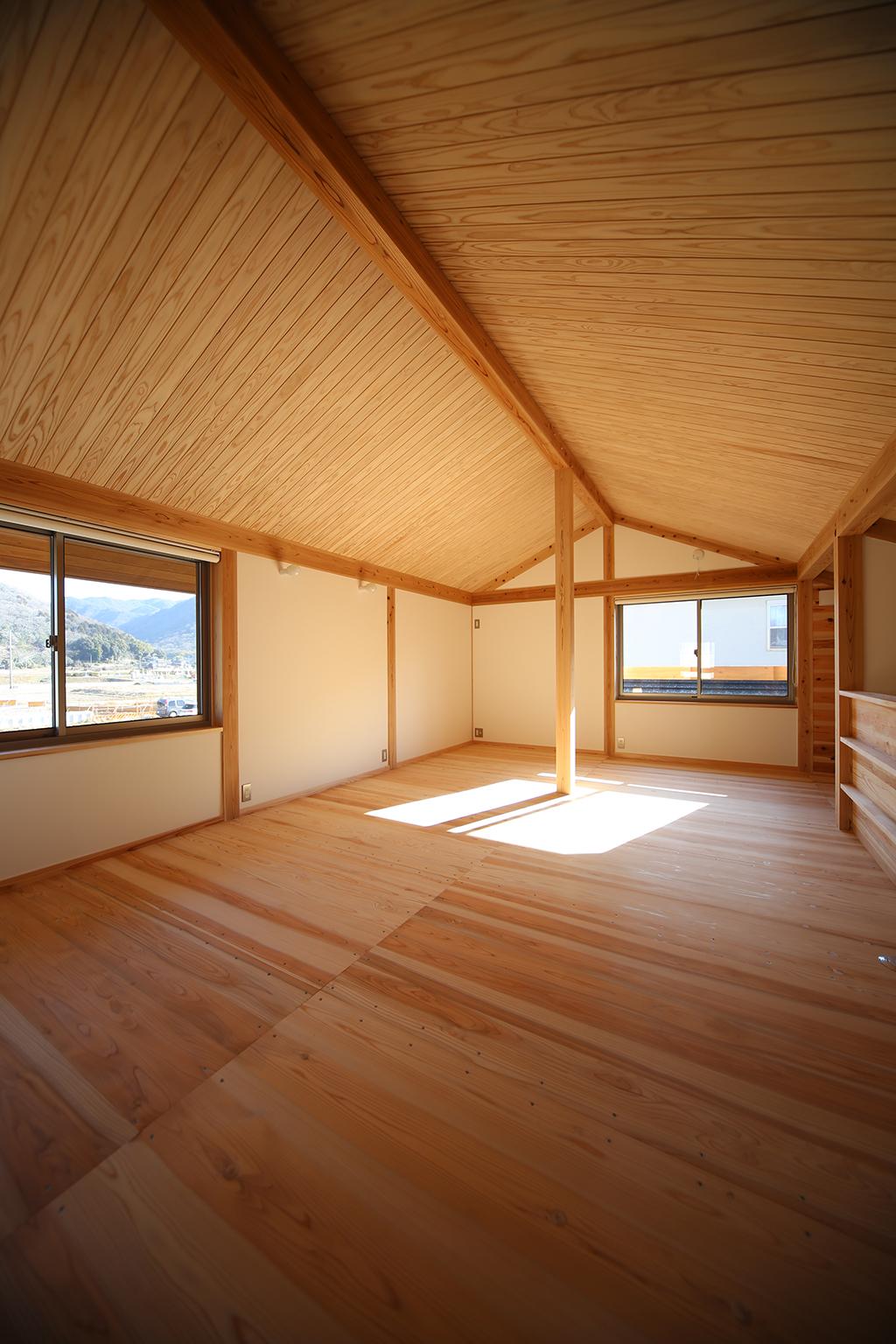 赤穂市の木の家 変幻自在の2階フリールーム