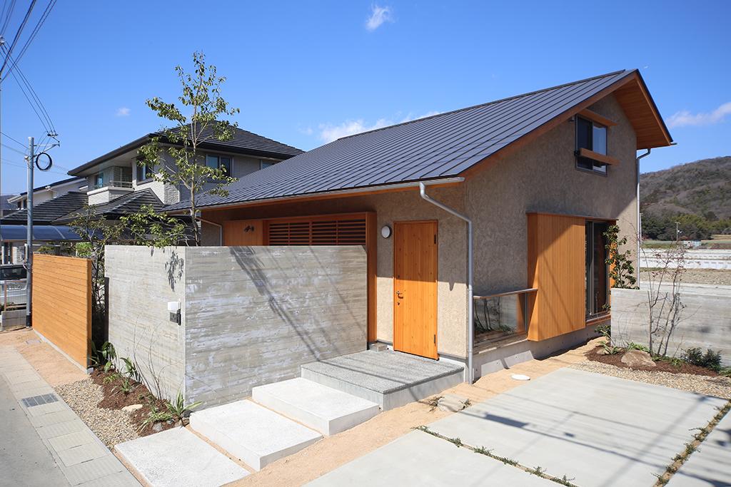 赤穂市の木の家 そとん壁の外観