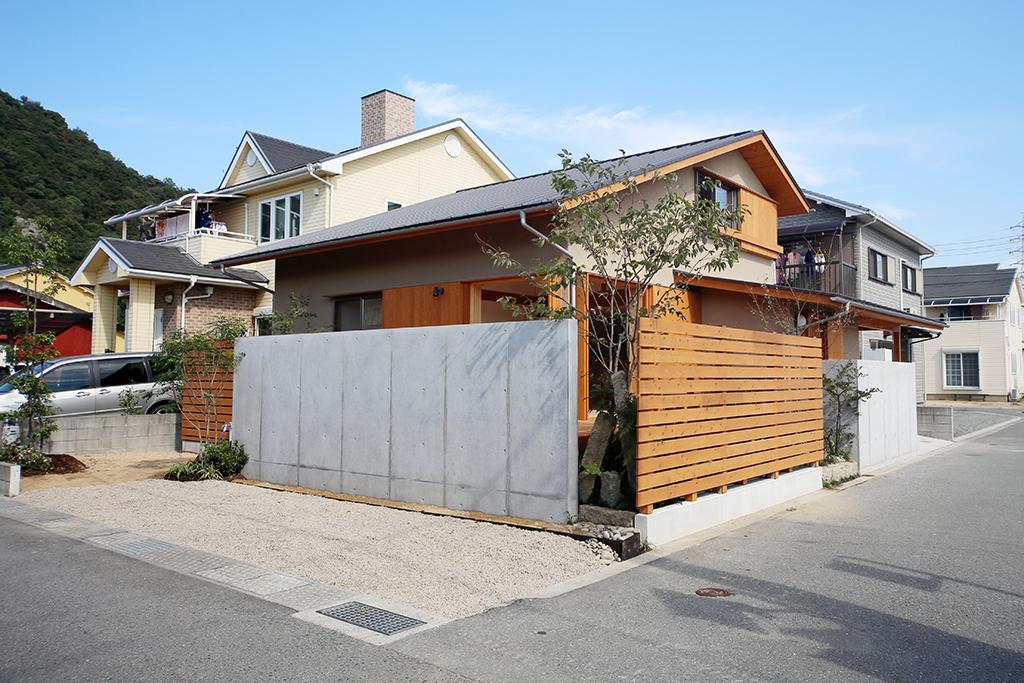 姫路市の木の家 そとん壁の外観