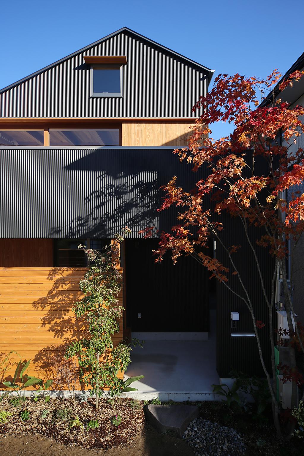 相生市の木の家 ガルバリウム鋼板張りの外観