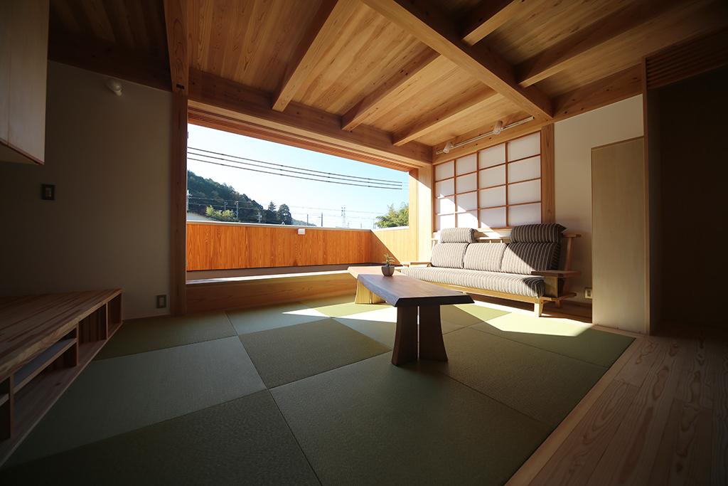 相生市の木の家 2階リビング