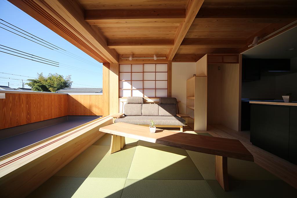 相生市の木の家 開放的な2階リビング