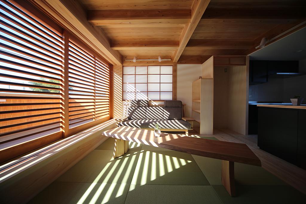 相生市の木の家 畳敷きの2階リビング