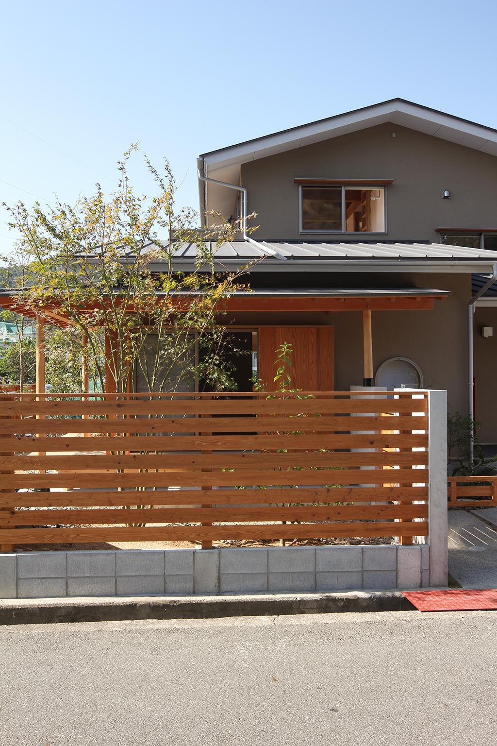 姫路市の木の家 落ち着いた佇まいの外観