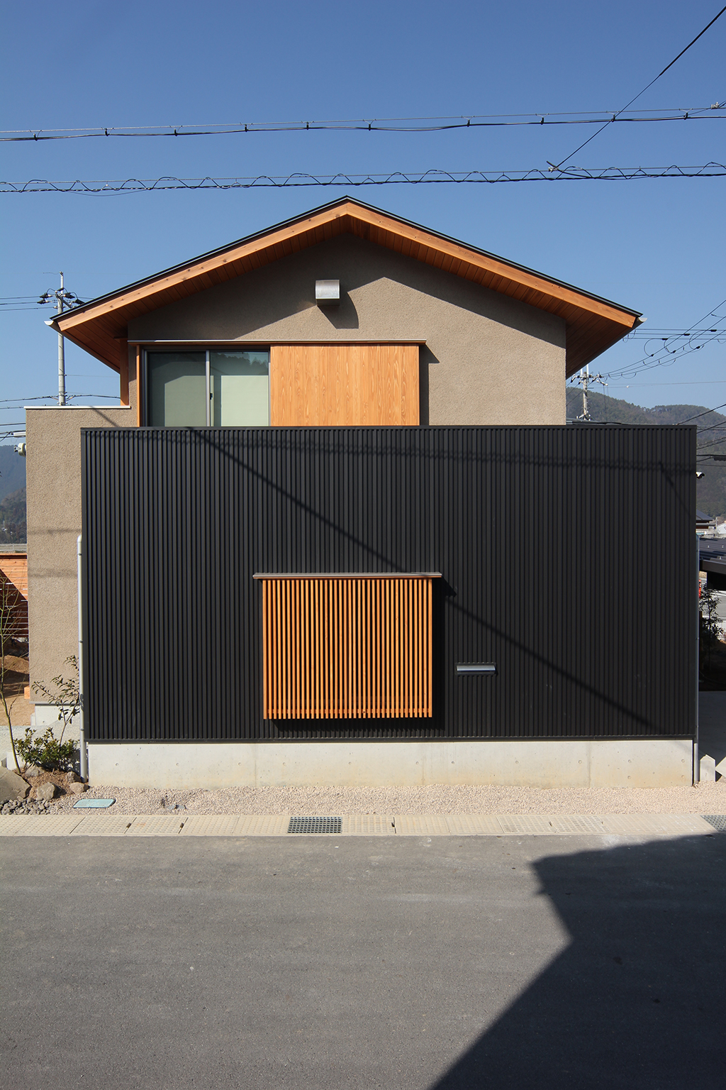 宍粟市の木の家 そとん壁の外観