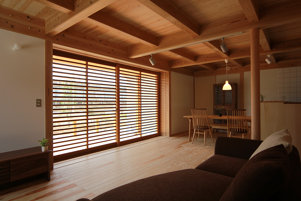 姫路市の木の家 リビングダイニング