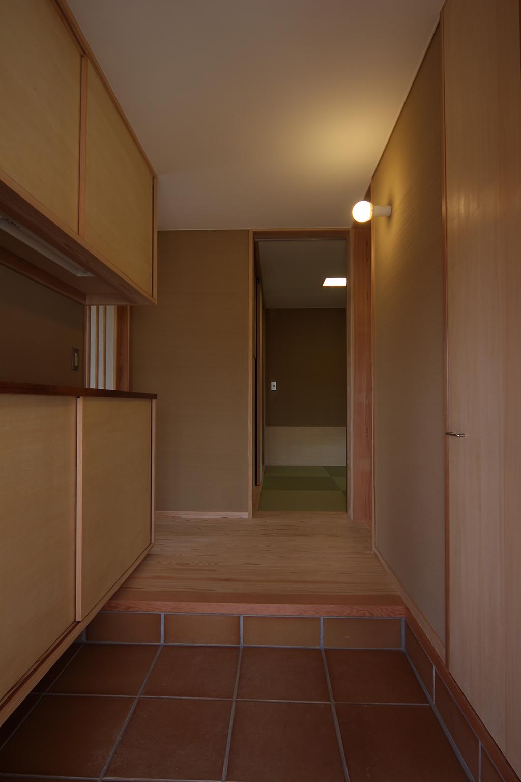姫路市の木の家 玄関ホール