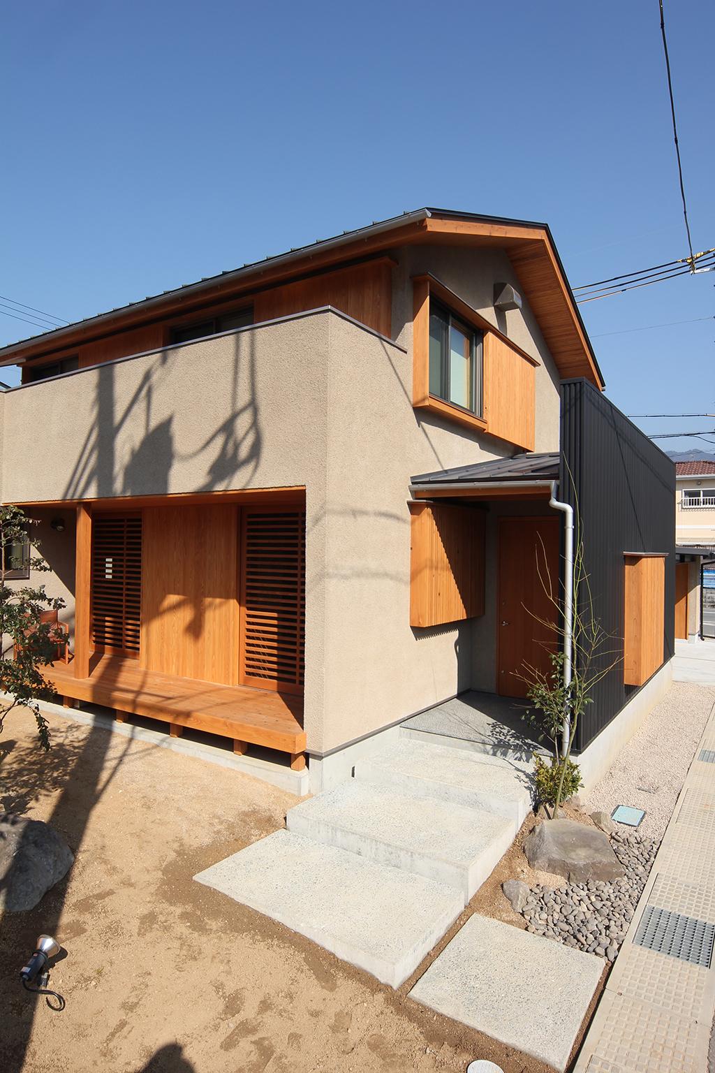 宍粟市の木の家 アプローチ