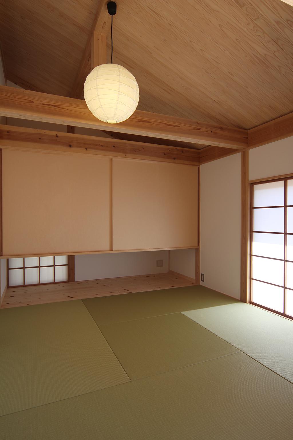 神戸市の木の家 寛いだり、客間としても使用できる和室