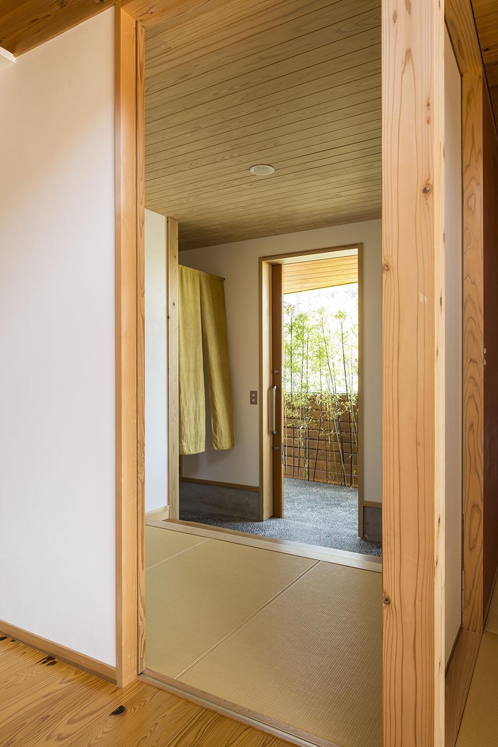 姫路市の木の家 畳敷きの玄関