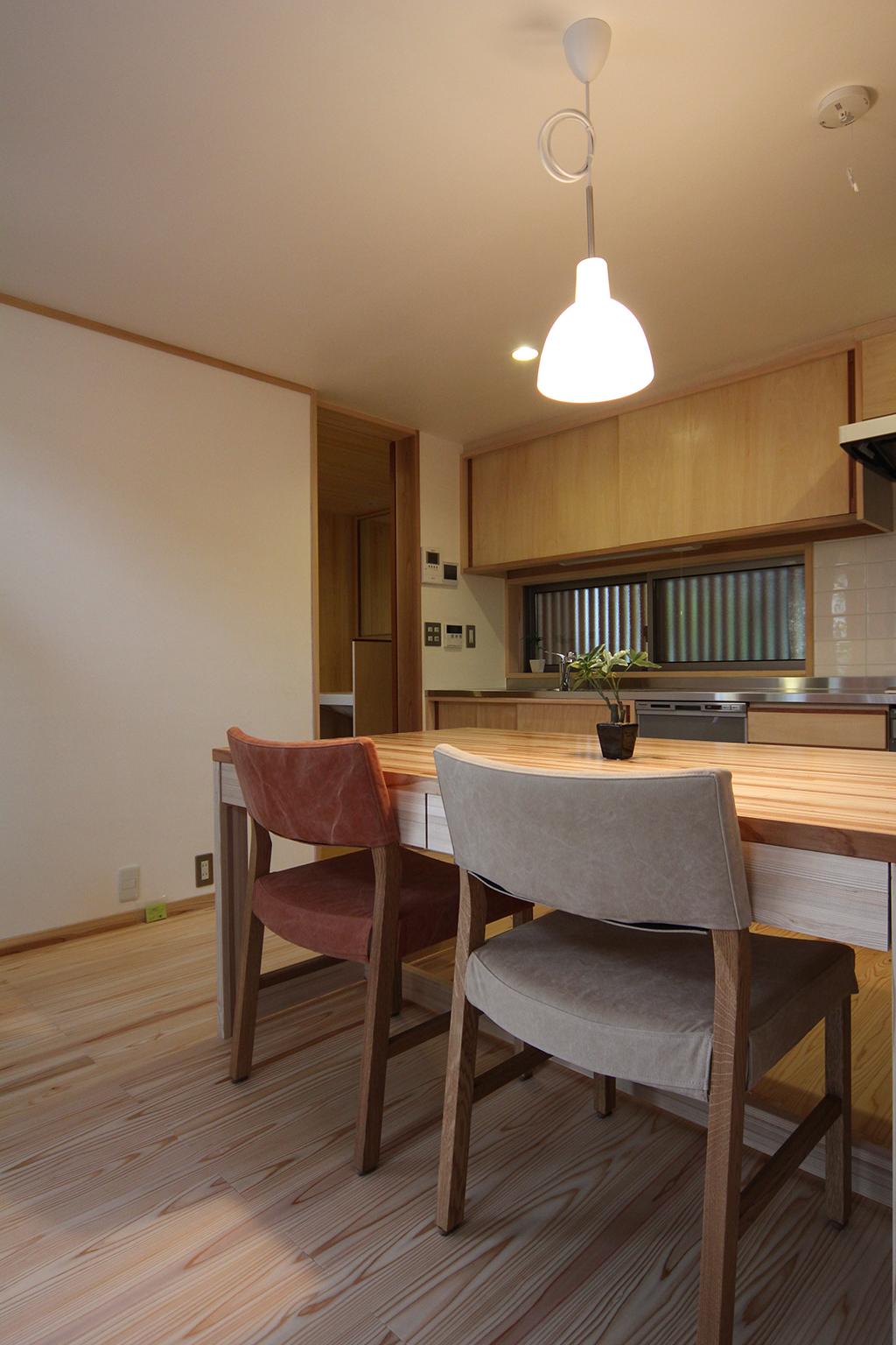 神戸市の木の家 ダイニングキッチン