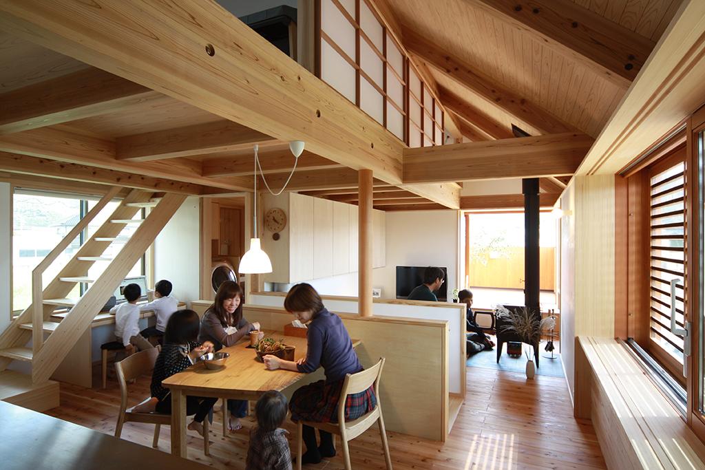 宍粟市の木の家 ひとつながりのLDK