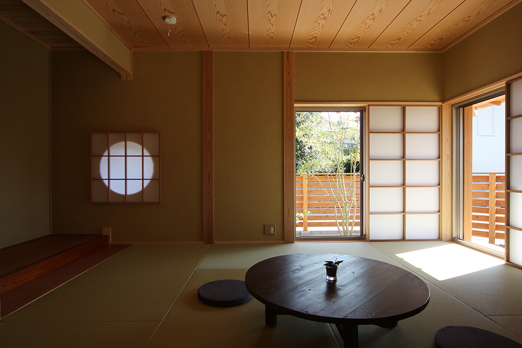 姫路市の木の家 床の間を設けた和室