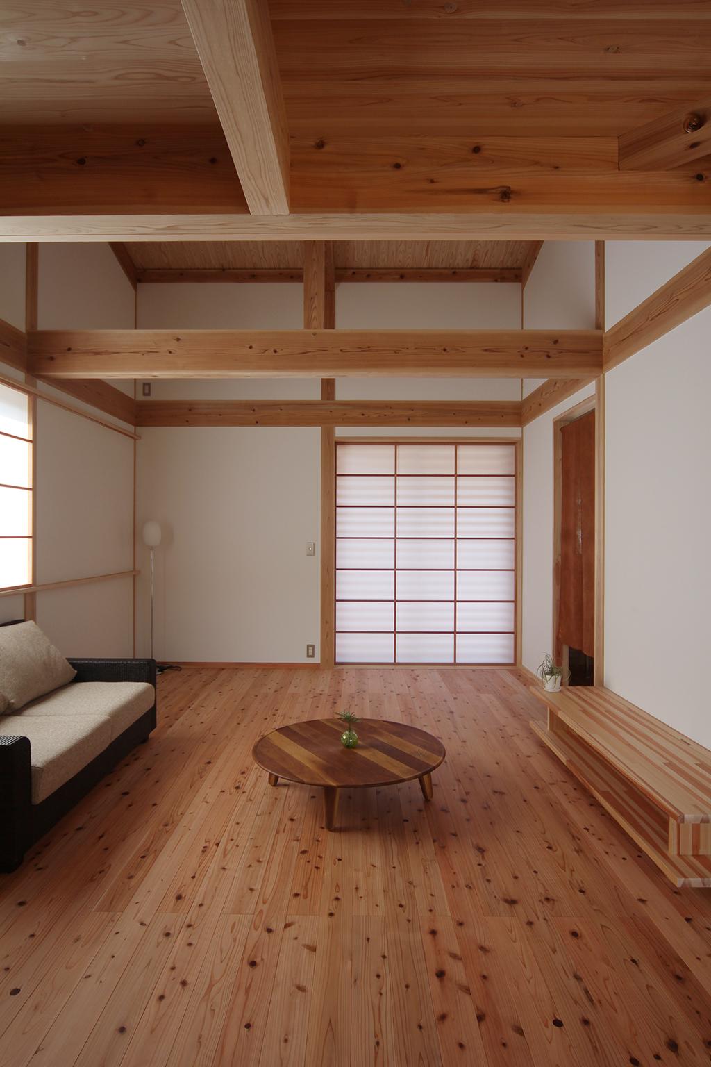 三木市の木の家 リビング