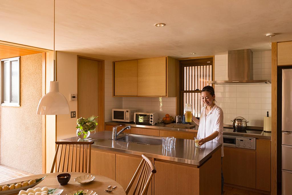 姫路市の木の家 オリジナルキッチン
