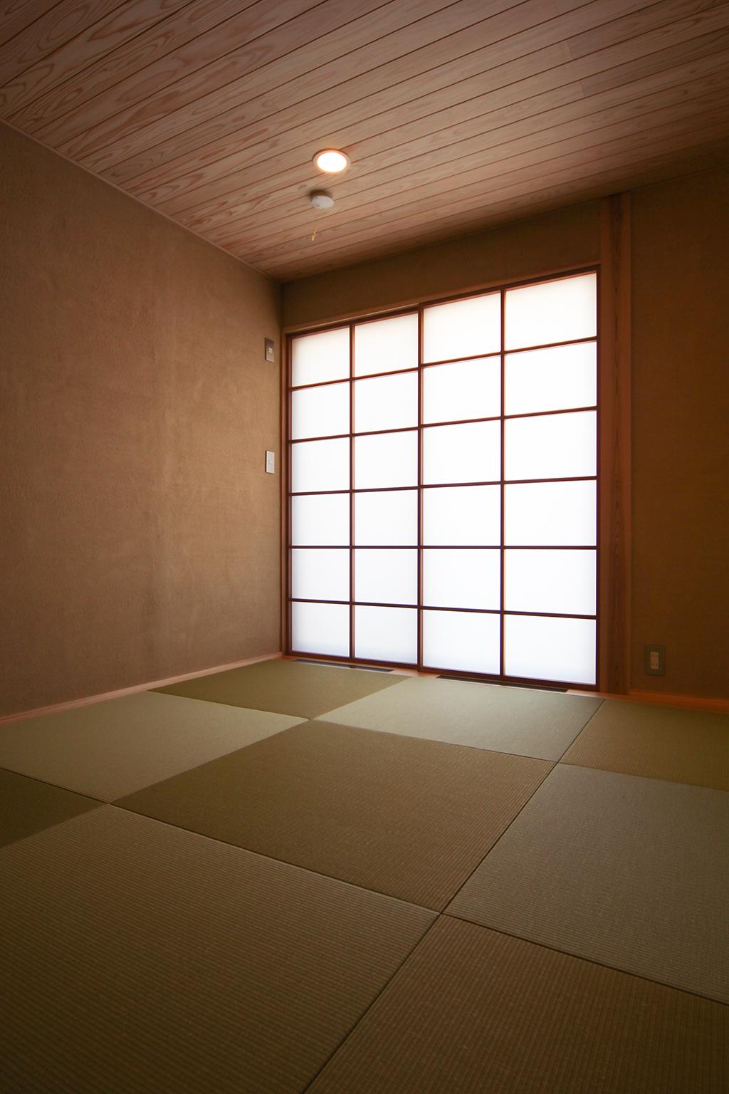 宍粟市の木の家 薩摩中霧島壁の和室
