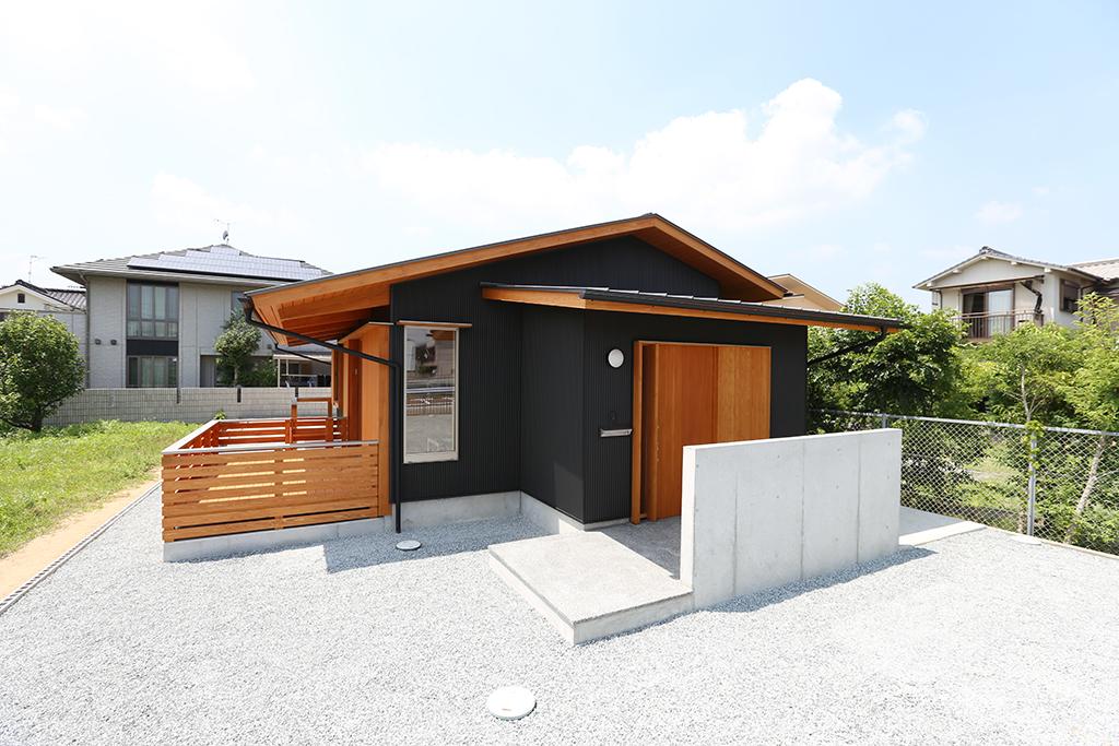 姫路市の木の家 平屋造りの外観