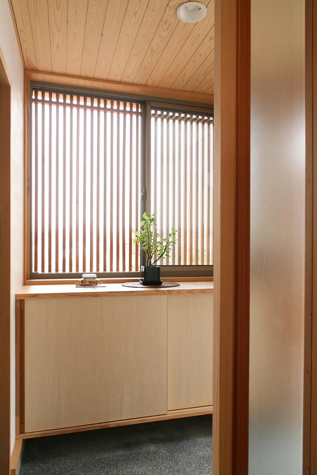 神戸市の木の家 玄関