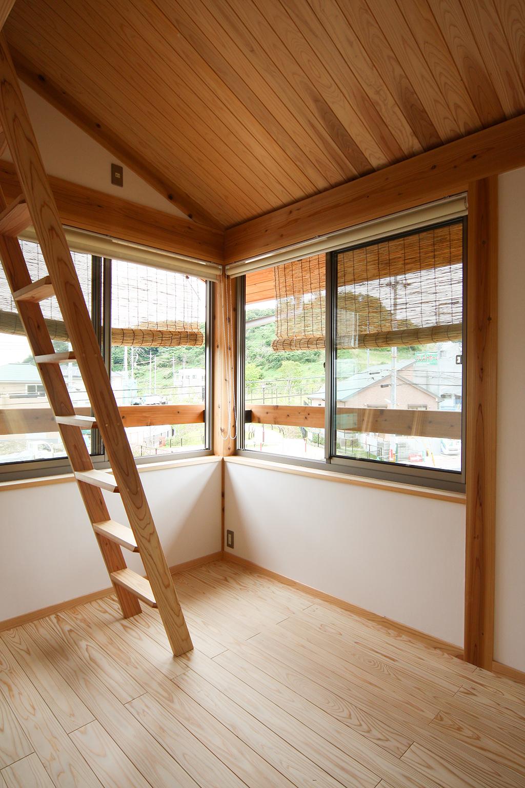 神戸市の木の家 2階子ども室