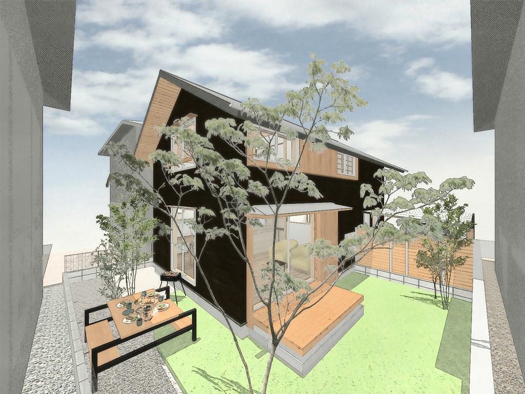 姫路市の木の家 パース