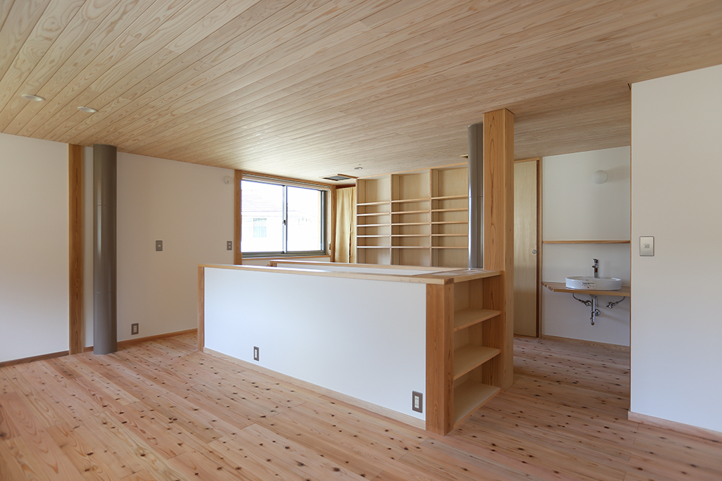 神戸市の木の家 2階フリールーム