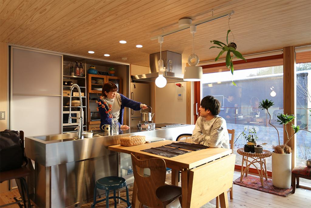 書写の家 ダイニングキッチン