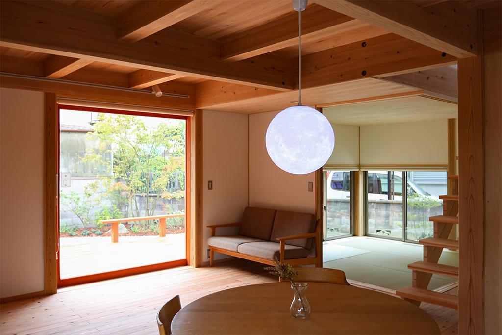 神戸市の木の家 リビング