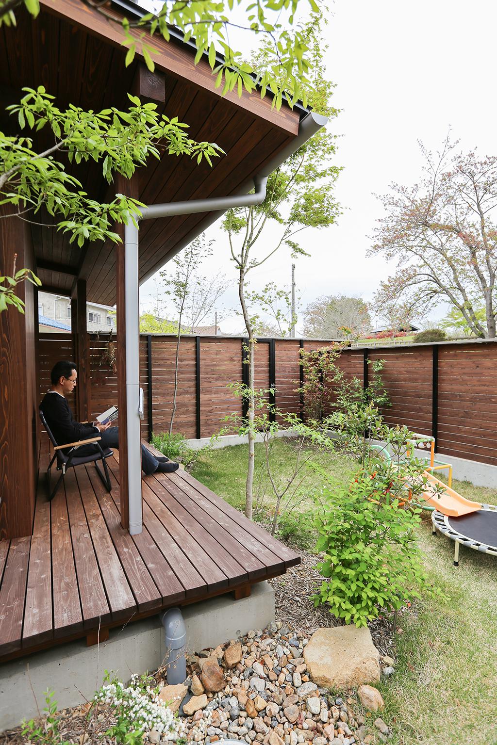 加古川市の木の家 緑豊かな庭