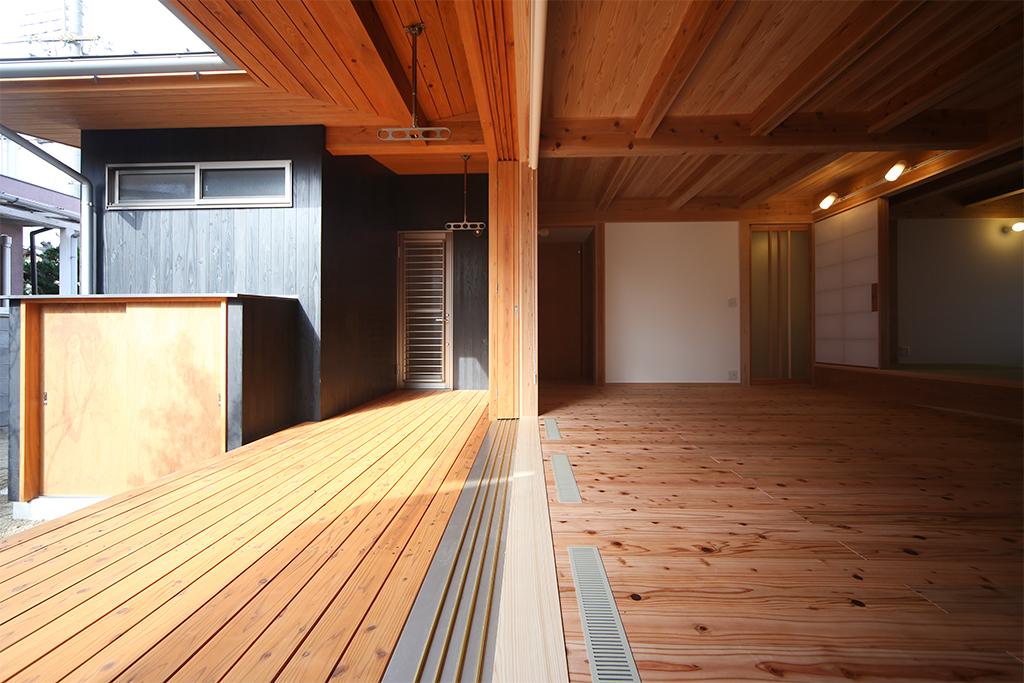 加古川市の木の家 リビングの大開口