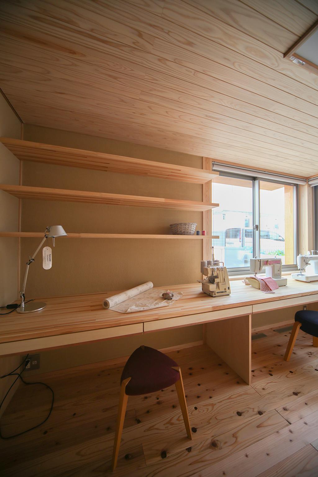 姫路市の木の家  趣味室