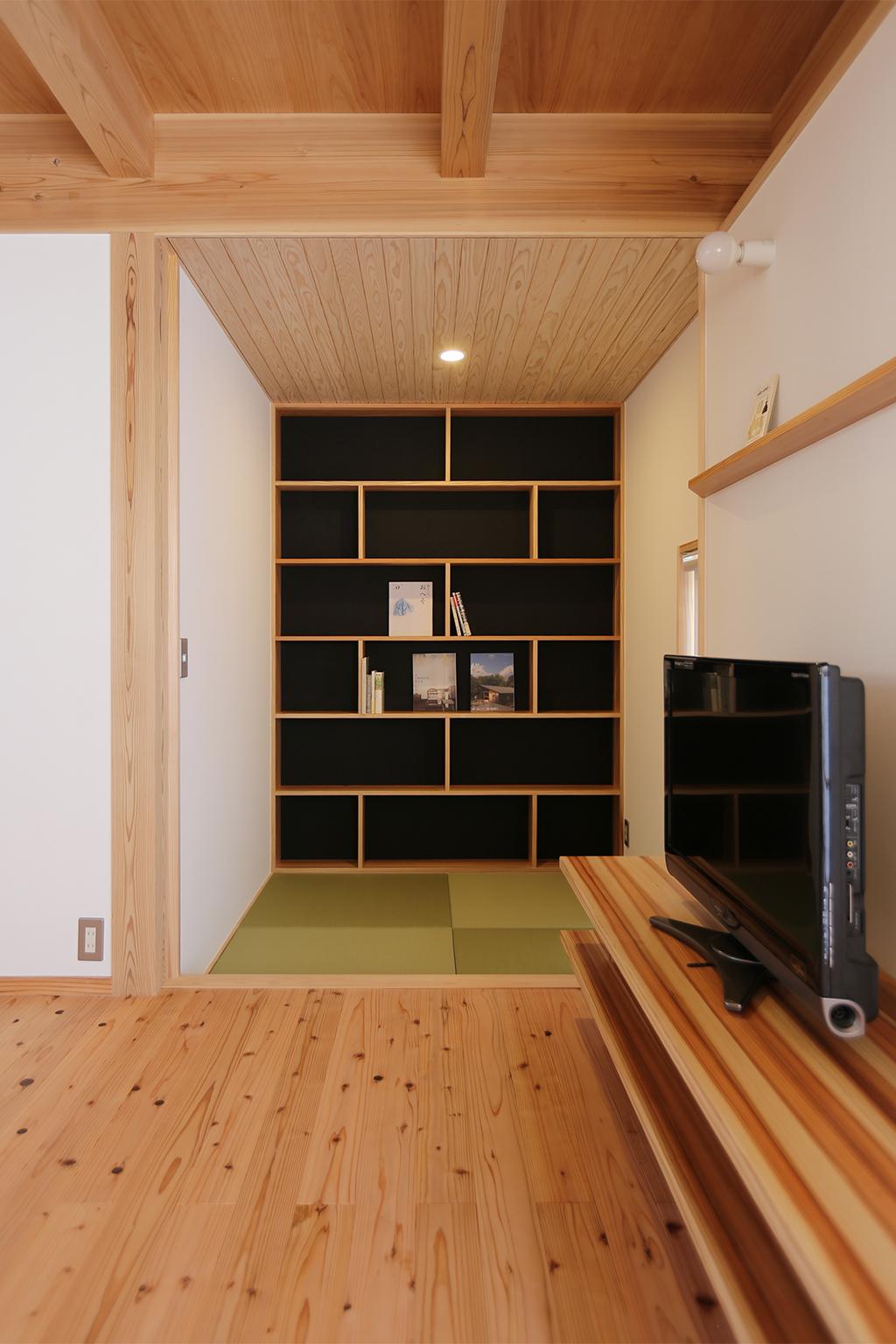 姫路市の木の家 広がりをプラスする畳の間