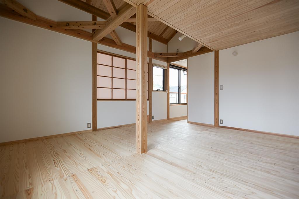 姫路市の木の家 2階フリールーム