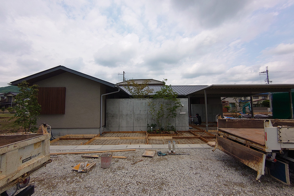 上郡町の木の家 外構工事