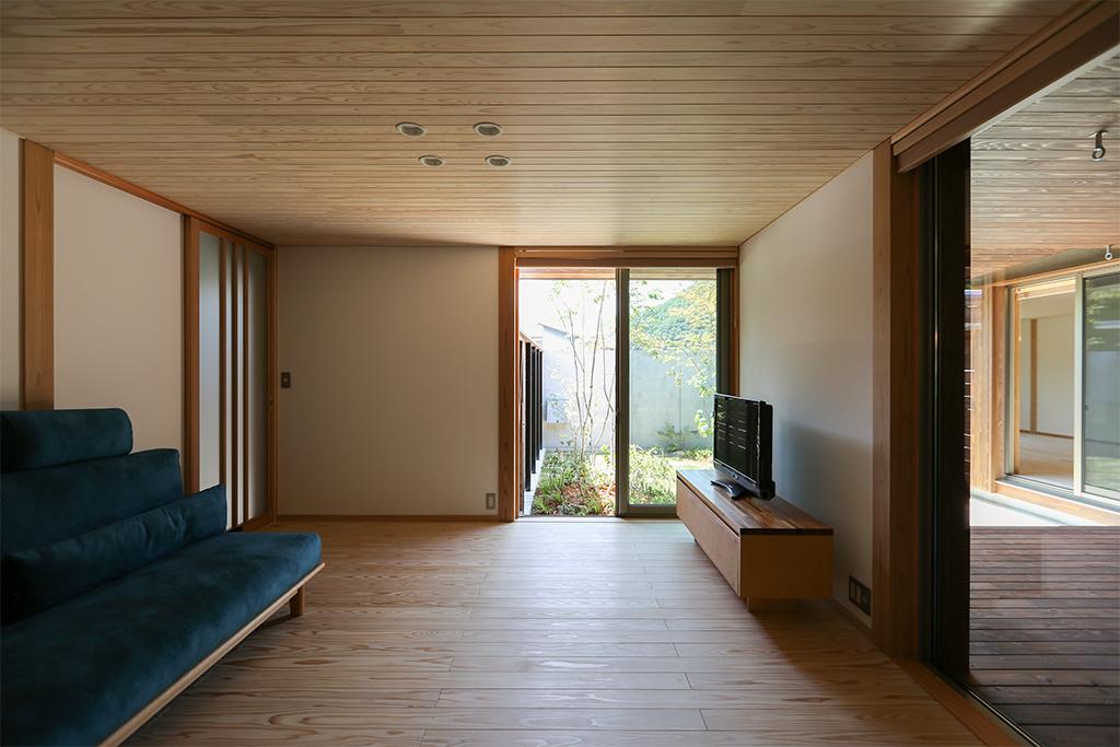 上郡の木の家 リビング