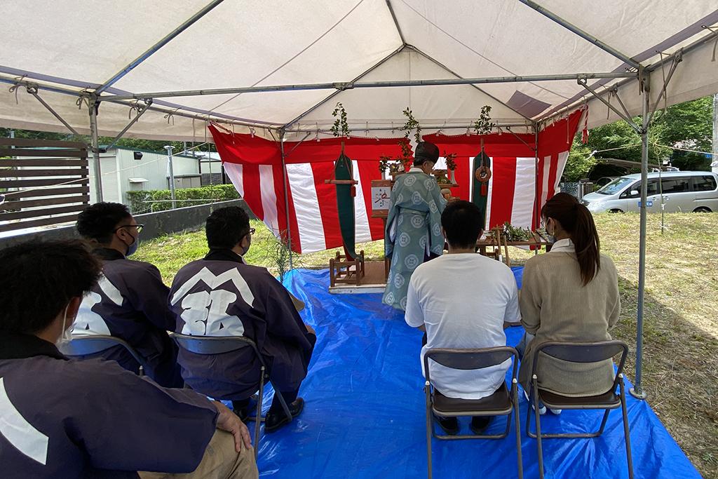 川辺郡の木の家 地鎮祭