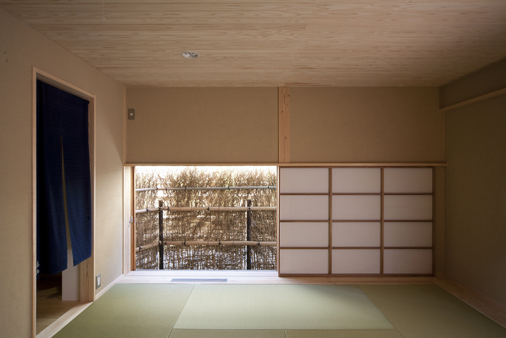 宍粟市の木の家 寝室