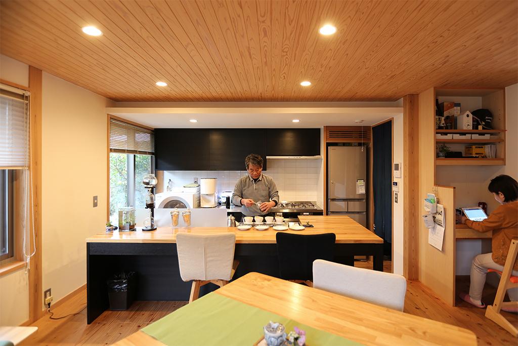 赤穂郡の木の家 オリジナルキッチン