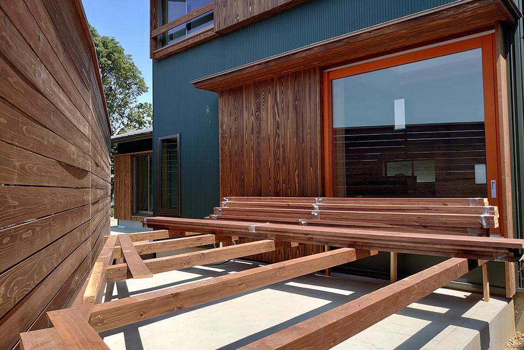 明石市の木の家 ウッドデッキ工事
