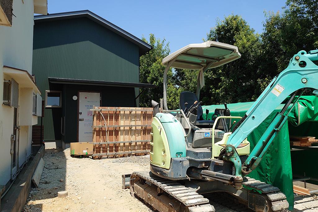 明石市の木の家 外構工事