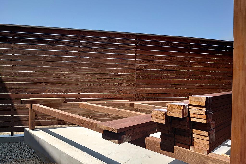 明石市の木の家 木柵
