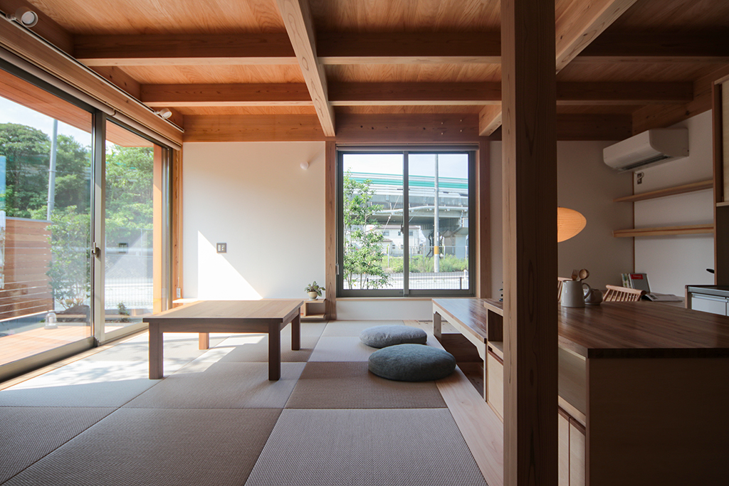 姫路市の木の家 畳リビング