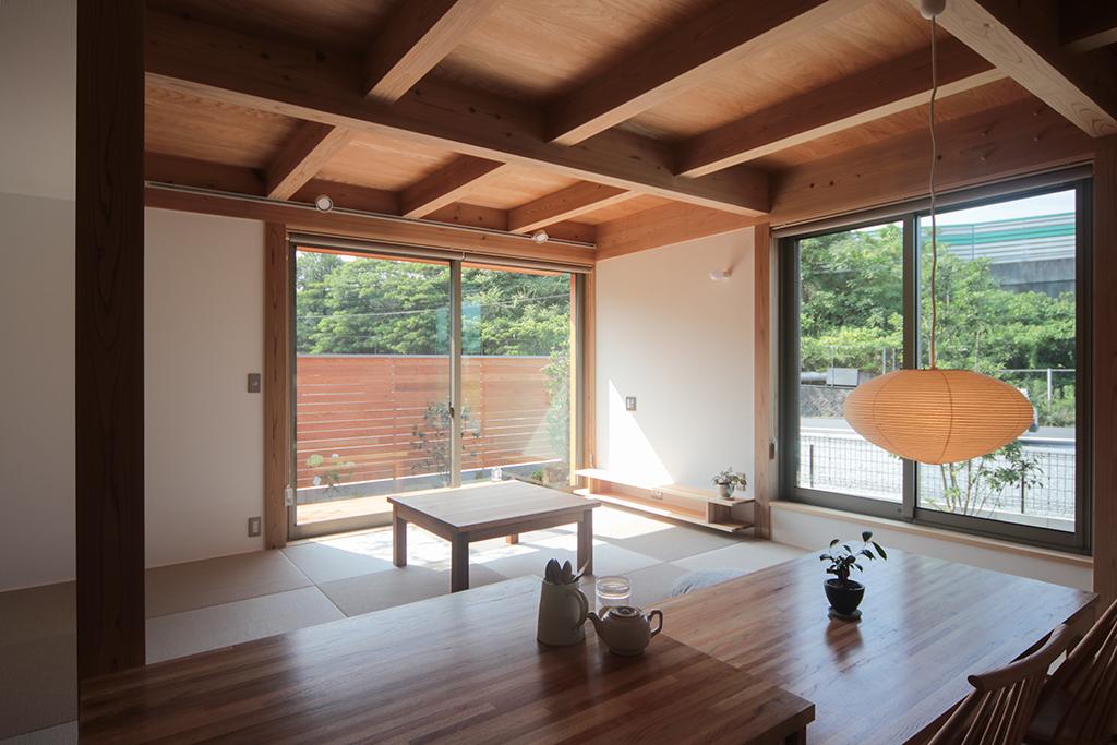 姫路市の木の家 ダイニングからの眺め