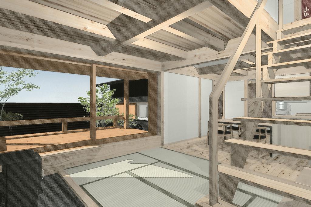 加古川市の木の家 パース