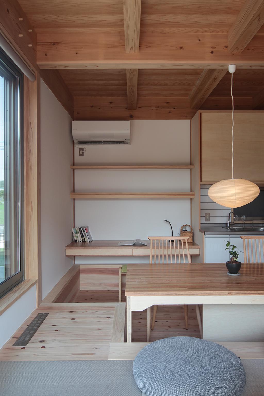 姫路市の木の家 LDKのスタディースペース