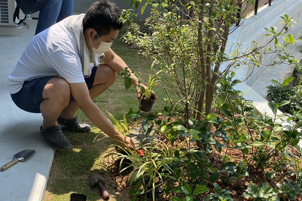 明石市の木の家 庭造りワークショップ